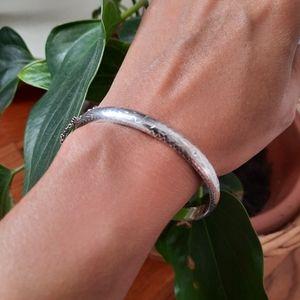 Vintage hollow sterling silver bracelet